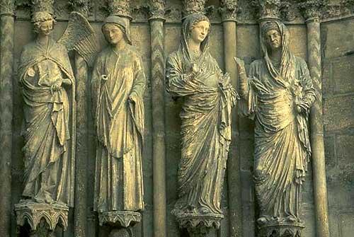 Cena da visitação - Catedral de Rouen